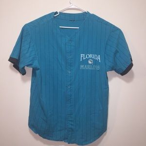 Florida Marlins XL Vintage Blue MLB Baseball Shirt